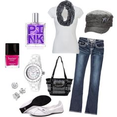 plain white T, created by krystatarman on Polyvore