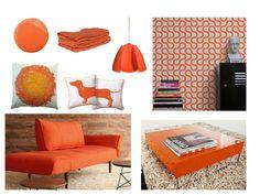 Peachy-Orange Decorating Ideas