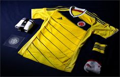 2014 FIFA World Cup. Colombia Home Kit. Adidas
