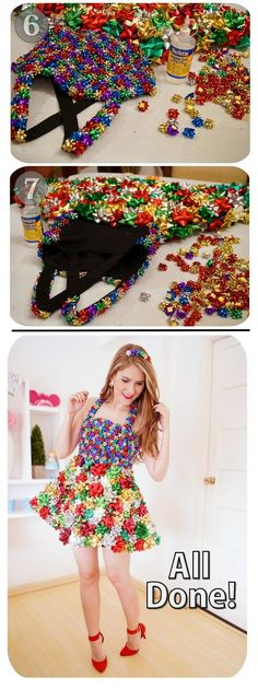 The Joy of Fashion: {Christmas}: Festive Bow Dress Tutorial Christmas Bows, Christmas Costumes, Christmas Crafts, Christmas Clothes, Ugly Xmas Sweater, Christmas Sweaters, Dress Tutorials, Sweet Dress, Dress With Bow