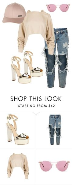 """""""Hannah"""" by laurelbeauty on Polyvore featuring Giuseppe Zanotti, One Teaspoon, Oliver Peoples and Billabong"""