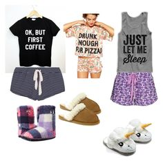 """""""Pajamas because I can."""" by alicelynch on Polyvore"""