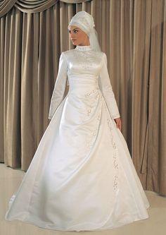 Classic Islamic Wedding Dress IG003