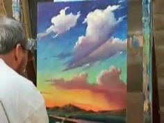 Oil painting - the living art! Oil Painting Lessons, Acrylic Painting Techniques, Painting Videos, Painting & Drawing, Painting Clouds, Cloud Art, Impressionist Paintings, Learn To Paint, Art Tutorials