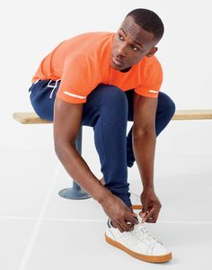 New Balance® for J.Crew cooling workout T-shirt, sweatpant and 791 sneakers.