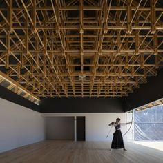 Archery Hall and Boxing Club  by FT Architects Architecture Durable, Detail Architecture, Timber Architecture, Japanese Architecture, Contemporary Architecture, Ancient Architecture, Sustainable Architecture, Landscape Architecture, Boxing Club