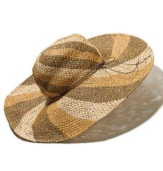 Sunny Disposition Hat | mark $26 This extra-wide-brimmed, swirl-patterned #hat will shield you from the sun in a shimmery, stylish way! #summertrends