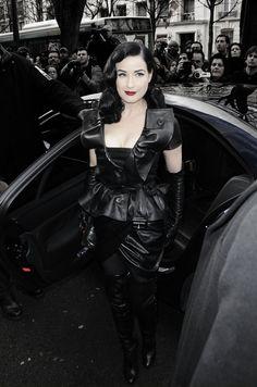 "birthofparadise: ""Dita Von Teese attends the S/S 2010 Christian Dior Haute Couture show in Paris """