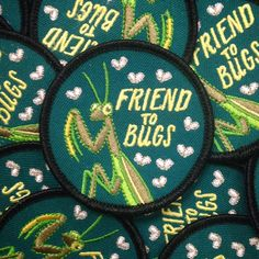 Friend To Bugs Patch by FrogandToadPress on Etsy https://www.etsy.com/uk/listing/254804724/friend-to-bugs-patch