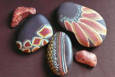 Painted Stones - would look nice mosaiced.