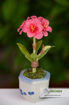 Multi-color Sun Rose Handmade Clay Plant Dollhouse Miniature Flower