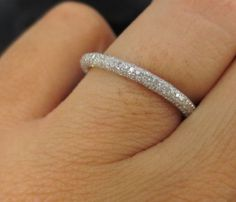 Five Row Micro Pave Diamond Eternity Band by ZinaFineJewelry Eternity Ring Diamond, Eternity Bands, Diamond Rings, Diamond Jewelry, Pave Wedding Bands, Wedding Rings, Beautiful Rings, Engagement Rings, Bling