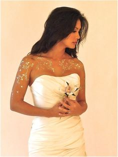 Silver, or Gold, Tattoos look stunning next to a wedding gown. A bride that everyone will remember. You will feel like a princess1