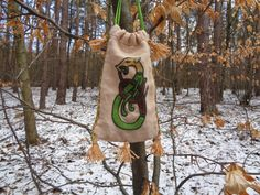 Urtica medieval embroidery bag