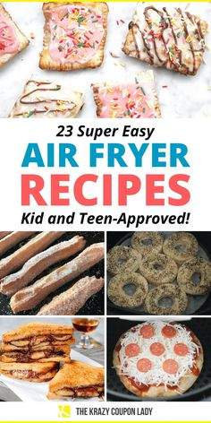 Teen approved super easy air fryer recipes are the gift that just keeps on giving. If your teen is suddenly obsessed with using the air fryer right now, welcome to the club. Whether they want easy air fryer breakfast recipes, quick lunch air fryer recipes, or want to make a whole family dinner using the air fryer, this list from The Krazy Coupon Lady will have you both drooling. You can also throw together easy snacks, meals and treats from scratch that your kids and teens will be obsessed… Sweet Potato Tots, Sweet Potato Chips, Air Fryer Potato Chips, Finger Foods For Kids, Food Hacks, Cooking Hacks, Air Frier Recipes, Banana Sandwich, Best Recipe Box