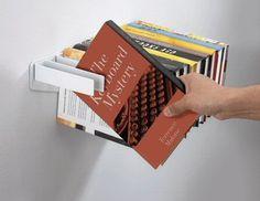 Fabulous idea. The books hang down and actually make a useable shelf. £25.00.
