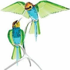 Swarovski Crystal Bee Eaters Bird Sculpture Figurine  This picture does not do this piece justice. It is breathtaking.