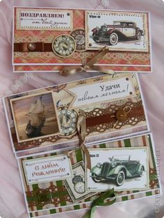 Открытка Скрапбукинг 23 февраля День рождения Ассамбляж Мужское открытки конверты обложки Бумага фото 59