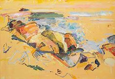 Calm Yellow by Bernard Chaet, 2007, oil on canvas, 28 x 40.