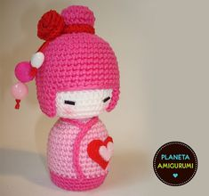 #amigurumi #crochet #pink #geisha #girl #crafts