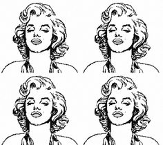 Marilyn et A. Wahrol Andy Warhol, Art Club, Art Plastique, Colouring Pages, Adult Coloring, Paper Cutting, Line Art, Art History, Movie Stars