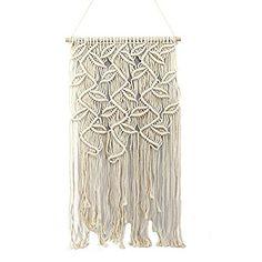 OMAS Handmade Macrame Wall Hanging- Woven Wall Art- Macrame Tapestry-Boho Wall Decor- Textile Wall hanging – X Chic Bohemian Home Geometric Art Decor Geometric Art, Babys, Art Decor, Macrame, Bohemian, Textiles, Tapestry, Wall Art, Amazon