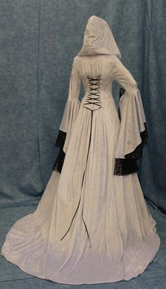 Renaissance medieval handfasting wedding dress custom made. $315.00, via Etsy.
