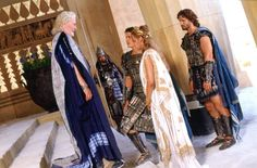 Still of Peter O'Toole, Eric Bana, Orlando Bloom and Diane Kruger in Troy