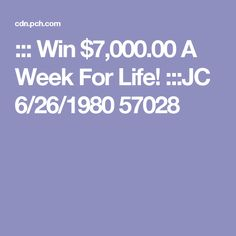 Instant Win Sweepstakes, Online Sweepstakes, Pch Dream Home, Winner Album, Win For Life, State Of Play, Winner Announcement, Michael Collins, Congratulations To You