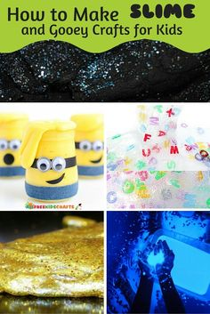 Wie man Slime for Kids und Gooey Crafts for Kids herstellt AllFreeKidsCrafts . Make Slime For Kids, How To Make Slime, How To Make Homemade, Crafts For Kids, Diy Crafts, Borax And Glue, Green Slime Recipe, Ingredients To Make Slime