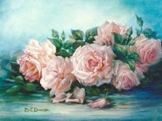 """Fresh from the Garden - Peggy Lee Rose"" by Barbara C. Duncan"