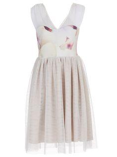 Hydrangea-print Tutu Dress Multi-colour
