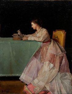 Reading Art, Woman Reading, Reading Books, Books To Read For Women, Galerie D'art, Fine Art Gallery, Beautiful Paintings, Female Art, Art History