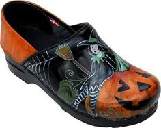 hand-painted clogs!!  great site.....-could be my witch's shoes!