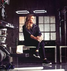 Exciting news: Caitlyn Jenner has revealed that she is set to star in a new campaign for H&M Sport, sharing a behind-the-scenes snap from her shoot (pictured) on social media