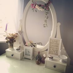 Dressing Room #hemnes #hemnesdressingtable #ikea #dressingtable #shabbychic #home #dressingroom