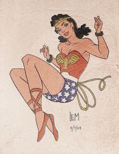 """""""Old School Wonder Woman"""" by Lauren Montgomery"""