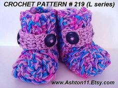 Easy and fun crochet baby booties- up to age 2!  Only $2.49 for the pattern!