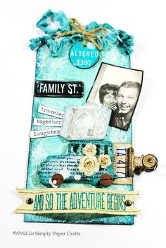 Meihsia Liu Simply Paper Crafts Mixed Media Tag Adventure