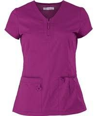 Koi Stretch Scrubs Mackenzie Top - S - Wine Friday Outfit For Work, Koi Scrubs, Scrubs Uniform, Womens Scrubs, Medical Scrubs, Scrub Tops, Work Wear, How To Wear, Outfits