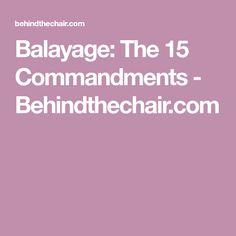 Balayage: The 15 Commandments - Behindthechair.com