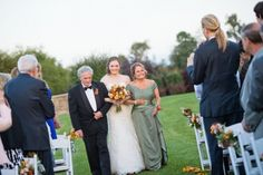 We love how this bride's parents both walked her down the aisle / @Joseph