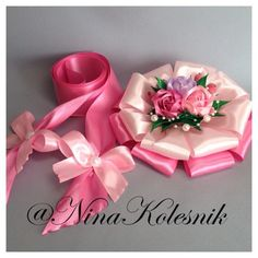 Ribbon Bows, Ribbons, Diy Hair Accessories, Ribbon Embroidery, How To Make Bows, Diy Hairstyles, Fabric Flowers, Baby Shower, Hair Bows