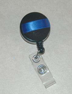 Law Enforcement Police Blue Line Badge ID holder! i can use this for my nurse ID