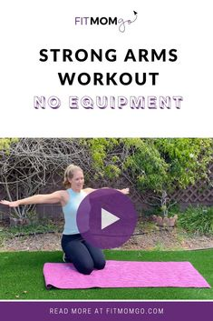 Arm Workout For Women No Equipment #armworkout #strongarmsworkout #workoutsforwomen #quickarmworkout #quickworkouts Short Workouts, At Home Workouts, Cardio Workouts, Arm Workout No Equipment, Workout Videos, Workout Tips, I Love Mommy, Strong Arms, Fit Women