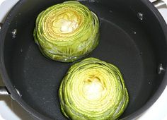 How to prepare an artichoke - for my two that LOVE them!