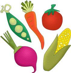 Silhouette Online Store - View Design #12867: veggie fun