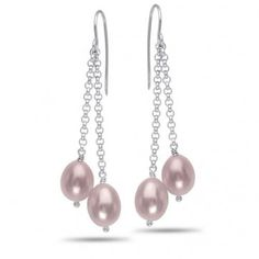 OrianO, Sterling Silver, Freshwater Cultured Pearl Earrings