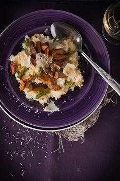 Recette facile de risotto aux champignons homard et asperges