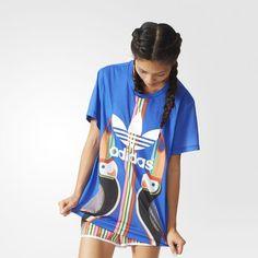 T-shirt Trèfle Boyfriend - bleu